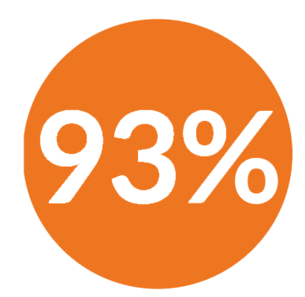 93 percent icon