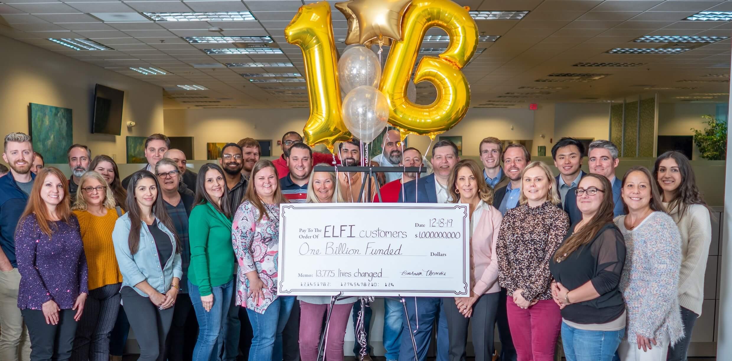 The ELFI team celebrates their milestone.