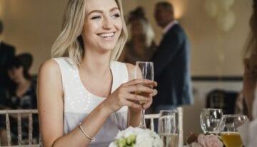Woman enjoying a wedding