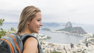 Woman taking a gap year after college