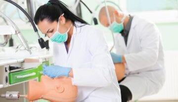 Woman in dental school