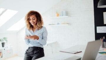 Woman saving money with financial minimalism