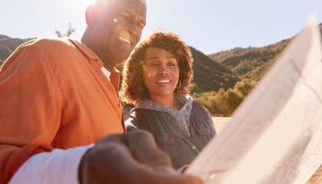 Retired couple with paid off student loans