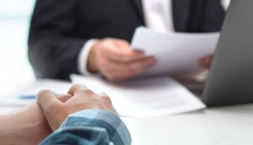 Meeting with lender to discuss personal loan